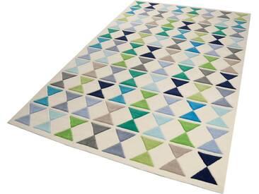 Esprit Wollteppich »Mahan«, rechteckig, Höhe 10 mm, blau, 10 mm, blau