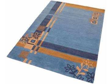 Theko Exklusiv Teppich »Gaur«, rechteckig, Höhe 13 mm, blau, 13 mm, blau