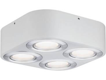 Paulmann LED Deckenspot »Argun 19,2W Weiß matt/Alu gebürstet«, 4-flammig, silberfarben, 4 -flg. /, aluminiumfarben