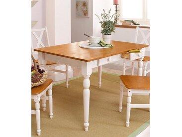 Home affaire Esstisch »Noah«, in 3 Größen, mit Schubladen, weiß, Breite 105 cm, weiß/honig