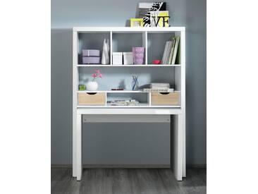 HMW Regal und Schreibtisch »Shelf & Write«, weiß, weiß/Eiche Sonoma