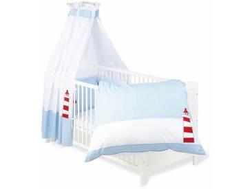 Pinolino® Pinolino Set: Bettwäsche, Betthimmel, Nestchen, »Schiff Ahoi«, blau, blau
