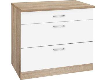 wiho Küchen Unterschrank »Brilon« mit großen Auszügen, Breite 90 cm, weiß, weiß