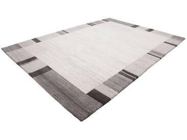 LALEE Teppich »Goa 953«, rechteckig, Höhe 18 mm, von Hand geknüpft, grau, 18 mm, grau