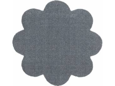 HANSE Home Fußmatte »Deko Soft«, blumenförmig, Höhe 7 mm, saugfähig, waschbar, grau, 7 mm, grau
