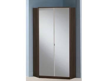 Wimex Eckkleiderschrank »Greven«, braun, mit Spiegel, Columbia nussbaumfarben