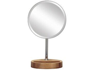 Kleine Wolke KLEINE WOLKE Kosmetikspiegel »Timber Mirror«, mit Bambus-Fuß, silberfarben, silber/braun / holzoptik