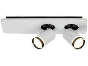 AEG Sol LED Spotbalken 2flg weiß-glänzend/schwarz, weiß, weiß-glänzend/schwarz