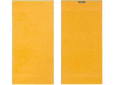 Egeria Badetuch »Diamant«, in Uni gehalten, gelb, Frotteevelours, sonne