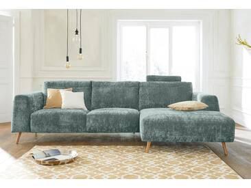Guido Maria Kretschmer Home&Living GMK Home & Living Polsterecke »Logge«, grün, Recamiere rechts, mit Holzfüßen, mint