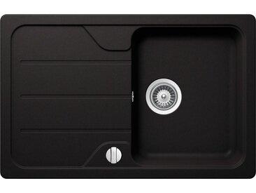 Schock SCHOCK Granitspüle »Formhaus Mini«, ohne Restebecken, 78 x 50 cm, schwarz, ohne Restebecken, schwarz