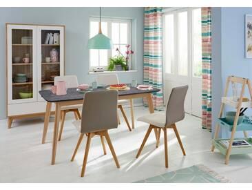 Guido Maria Kretschmer Home&Living GMK Home & Living Esstisch «Calluna», im modernen, skandinavischen Design, in verschiedenen Größen und Farben, schwarz