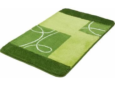 MEUSCH Badematte »Curly« , Höhe 20 mm, rutschhemmend beschichtet, fußbodenheizungsgeeignet, grün, 20 mm, kiwigrün