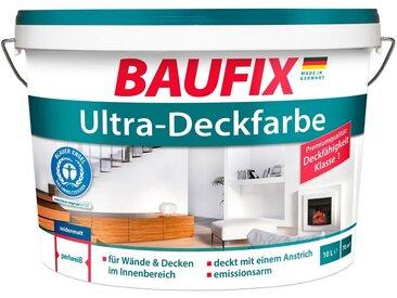 Baufix BAUFIX Wand- und Deckenfarbe »Ultra-Deckfarbe«, für den Innenbereich weiß, 10 L, weiß, 10 l, weiß