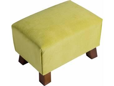 Max Winzer® Hocker »Footstool« mit Reptiliendruck, gelb, lemon