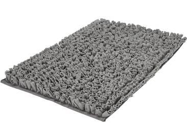 Kleine Wolke Badematte »Antigua« , Höhe 50 mm, rutschhemmend beschichtet, fußbodenheizungsgeeignet, grau, 50 mm, anthrazit