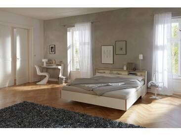 Müller Bett »Slope«, in 3, Breiten, weiß, ohne Matratze mit Birkenkante, weiß