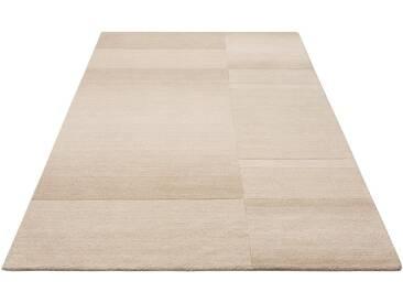 Theko Exklusiv Teppich »Jorun«, rechteckig, Höhe 14 mm, von Hand gearbeitet, natur, 14 mm, beige