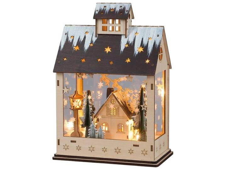 HGD Holz-Glas-Design Weihnachtshaus mit Acrylgl...