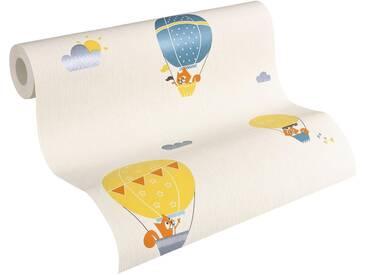 Esprit Vliestapete, »fein strukturierte Kids Tapete Flying Balloon«, bunt, blau;creme;orange