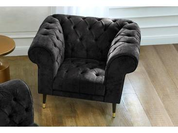 Guido Maria Kretschmer Home&Living GMK Home & Living Chesterfield Sessel »Tinnum«, schwarz, schwarz
