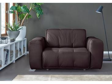 NATUZZI EDITIONS Sessel »Alessio« in zwei Lederqualitäten, braun, dark brown