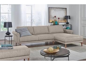 Hülsta Sofa hülsta sofa Polsterecke »hs.450« im modernen Landhausstil, Breite 282 cm, grau, Recamiere rechts, graubeige/natur