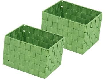 Franz Müller Flechtwaren Aufbewahrungsbox (Set, 2 Stück), grün, 23x18x15,5 cm, grün