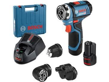 Bosch Professional BOSCH PROFESSIONAL Akku-Bohrschrauber »GSR 12V-15 FC«, in Koffer mit 1x 2,0 Ah-Akku, Zubehör-Set, blau, 1 Akku, blau