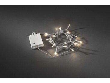 KONSTSMIDE LED Lichterkette mit Lichtsensor, weiß, Lichtquelle warm-weiß, Transparent