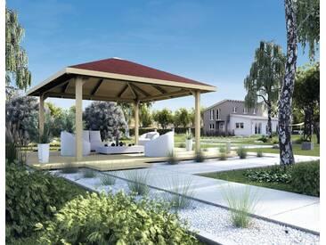 weka WEKA Pavillon »Paradies 2«, BxT: 380x380 cm, braun, braun