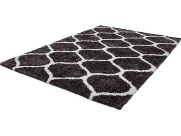 LALEE Hochflor-Teppich »Grace 802«, rechteckig, Höhe 40 mm, Besonders weich durch Microfaser, grau, 40 mm, grafit