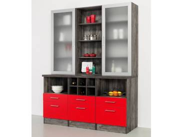 HELD MÖBEL Held Möbel Buffet »Sevilla« in 3 Farben, Breite 150 cm, rot, rot/eichefarben vintage