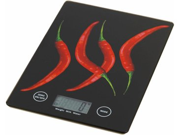 WENKO Küchenwaage »PEPERONI«, rot, 18 x 14 cm, schwarz-rot