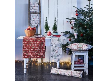 APELT Tischläufer »2500 Winterwelt, Gobelin« (1-tlg), natur, Baumwolle,Polyester,Polyacryl, natur-rot-grün