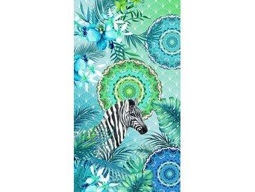hip Strandtuch »Talisa«, mit Mandala, weiß, Velours, multi-blau-grün