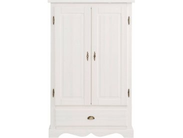 Home affaire Wäscheschrank »Teo« 2trg mit 1 Schublade und 2 Einlegeböden, Breite 95 cm, weiß, weiß/wachs