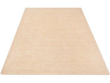 Theko Exklusiv Wollteppich »Gabbeh uni«, rechteckig, Höhe 15 mm, natur, beige