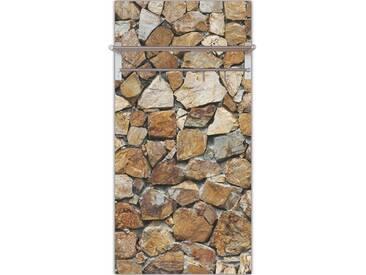 Artland Wandgarderobe »meepoohyaphoto: Braune Steinwand«, grau, 120 x 60 x 2,8 cm, Grau
