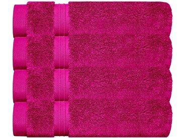 Lashuma Handtuch Set »Linz« (Set, 4-tlg), Gästehandtücher 30x50 cm, 4x Frottee Handtücher für Bad - Küche, lila, purpur