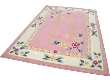THEKO Teppich »Versailles«, rechteckig, Höhe 11 mm, rosa, 11 mm, rosa