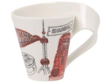 Villeroy & Boch Kaffeebecher Shanghai »Cities of the World«, rot, 300,00 ml, rot