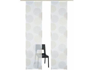 my home Schiebegardine »Belem«, Klettschiene (2 Stück), inkl. Befestigungszubehör, grau, Klettschiene, transparent, stein