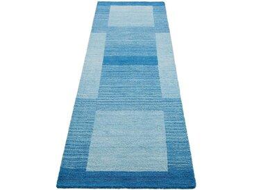 Theko Exklusiv Läufer »Gabbeh Super«, rechteckig, Höhe 9 mm, blau, blau