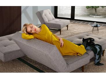 INNOVATION™ Schlafsofa »Splitback« mit dunklen Styletto Beinen, in skandinavischen Design, grau, grey