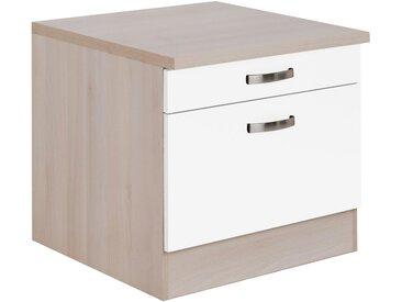OPTIFIT Unterschrank »Elm« für Waschmaschine oder Trockner, Breite 60 cm, weiß, weiß/akazie
