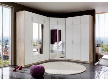 Wimex Eckkleiderschrank »Spectral«, natur, Höhe 197 cm, struktureichefarben hell/weiß