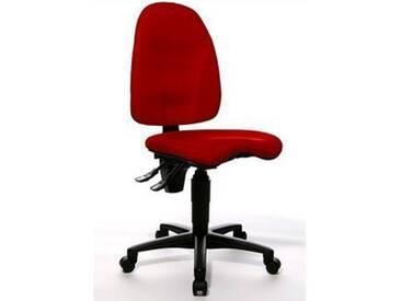TOPSTAR Bürostuhl »Point 40«, mit Orthositz, rot, ohne Armlehne, rot