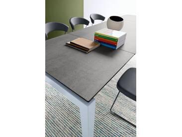 connubia by calligaris Tisch mit Tischplatte aus Keramik »Airport CB/4011«, grau, Metall satiniert, Keramik zement