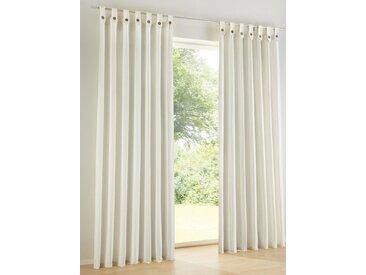 heine home Dekoschal mit dekorativen Schlaufen, weiß, mit Schlaufen, weiß